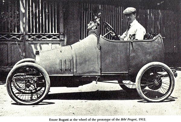 Ettore Bugatti prototype Bebe Peugeuot 1912