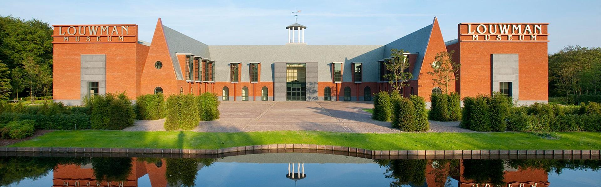 Voorkant van het Louwman Museum in Den Haag