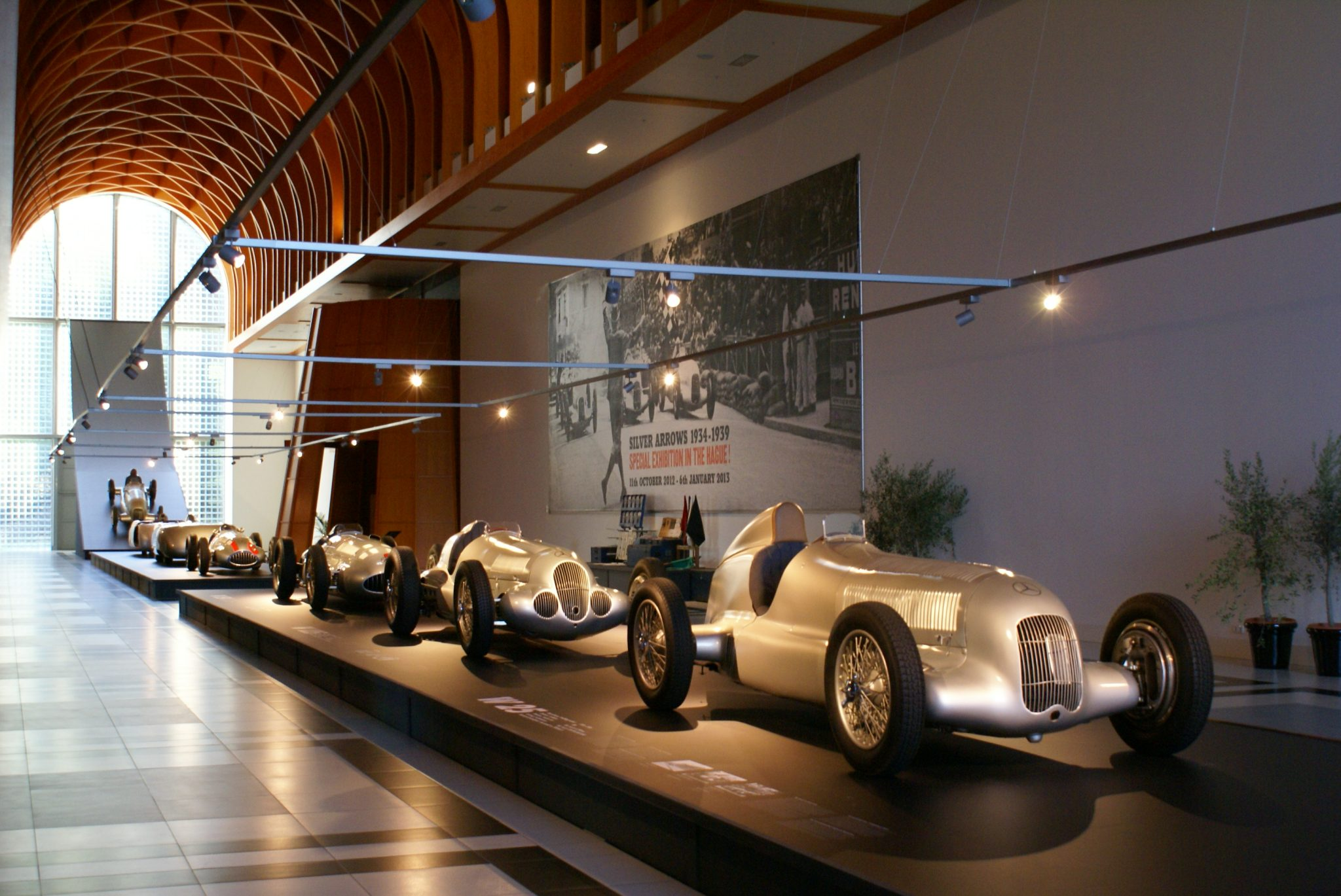 Silver arrows in Louwman Museum
